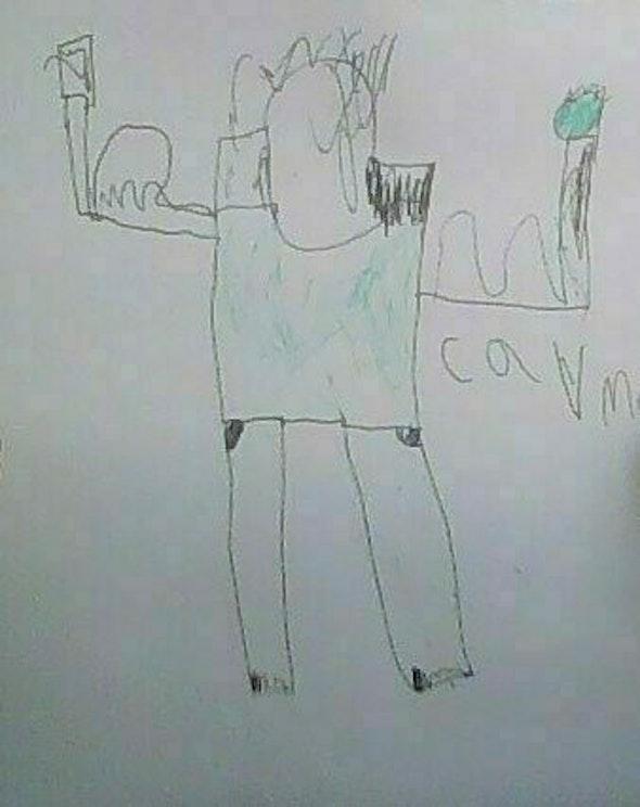 <p><em>B</em><em>uff Guy</em> by Noah, 3rd grade, Marie Hughes Elementary School</p>