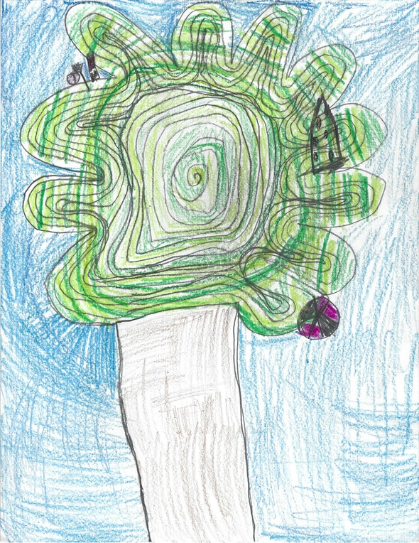 <p><em>Original Tree</em> by Natalie L., 1st grade, St. Mary Interparochial School</p>