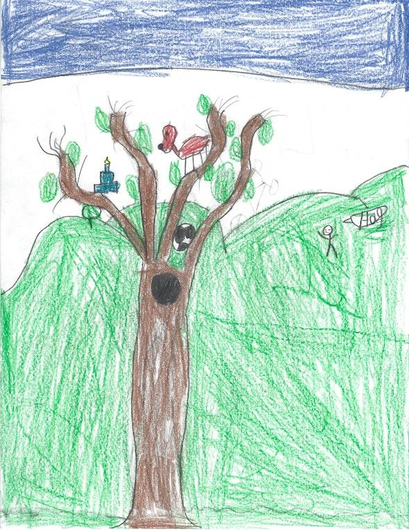 <p><em>Original Tree</em> by Liam T., 1st grade, St. Mary Interparochial School</p>