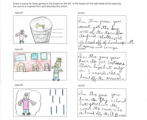 <p>Video Game Storyboard by Marck J., 5th grade, St. Mary Interparochial School</p>