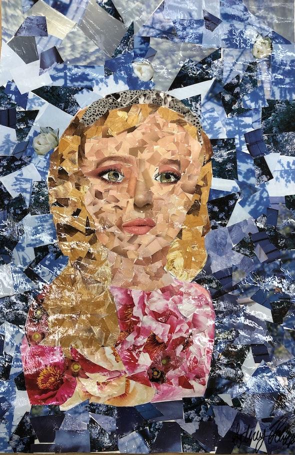 <p><em>Self-Portrait</em> by Sydney S., 6th–8th grade, the Benjamin School, FL</p>