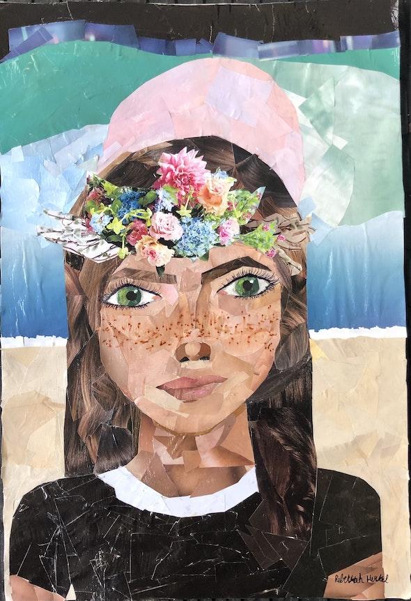 <p><em>Self-Portrait </em>by Rebekkah M., 6th–8th grade, the Benjamin School, FL</p>