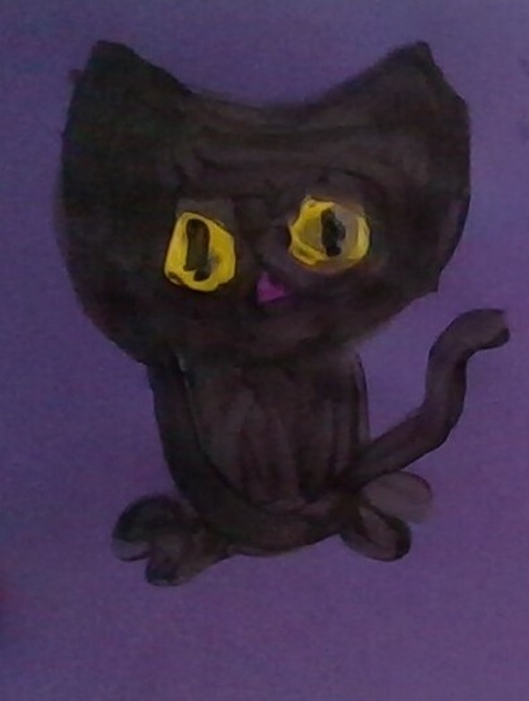 <p><em>The Black Cat</em> by Lila, 3rd grade, Marie Hughes Elementary School</p>