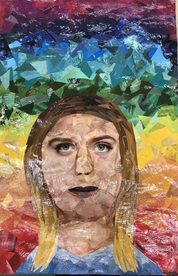 <p><em>A Face of Equality</em> by Vanessa Z., 6th–8th grade, the Benjamin School, FL</p>