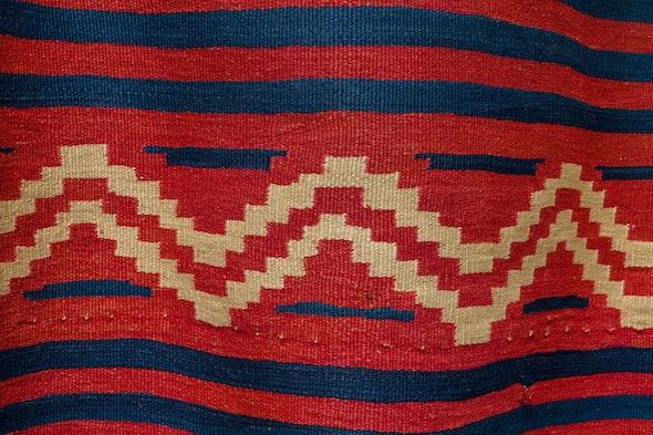 Close detail of Navajo serape