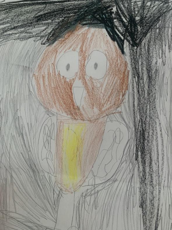 <p><em>Bob the Owl</em> by Abrianna C., 3rd grade, Marie Hughes Elementary School</p>