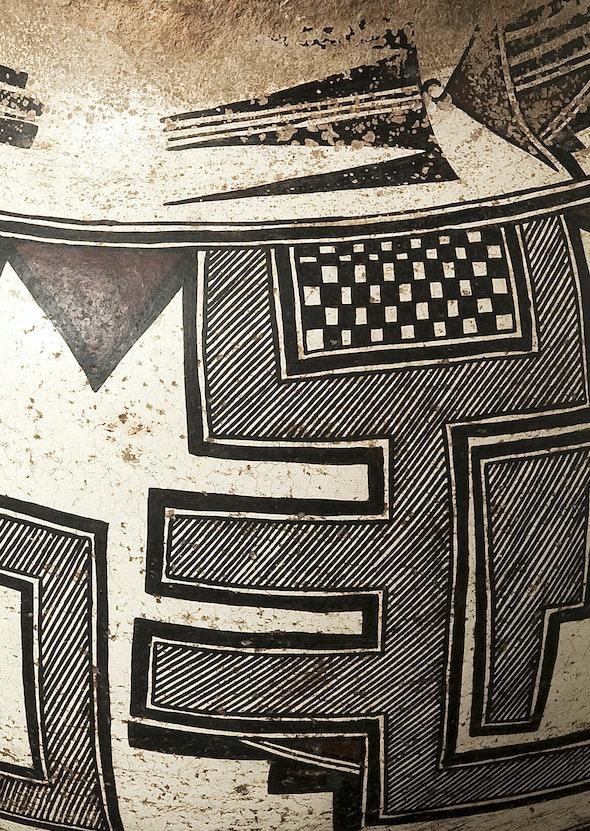 Detail of design on Zuni Pueblo water jar