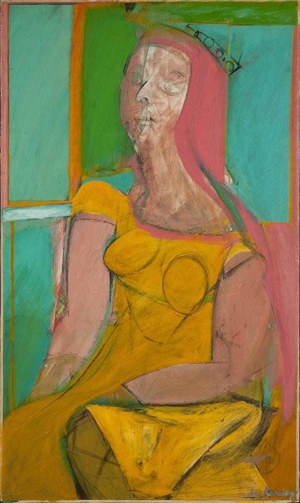 <p>Willem de Kooning. <em>Queen of Hearts</em>, 1943–46</p>