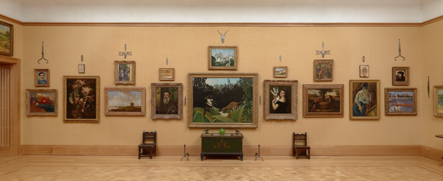 The Veronese as it hangs today (third from left) on the North Wall of Room 14.