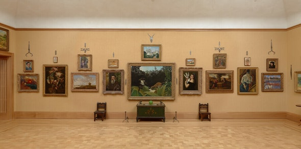 <p>The Veronese as it hangs today (second from left) on the North Wall of Room 14.</p>