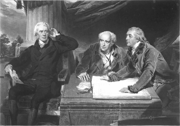 Famous banker Sir Francis Baring (left) acquired the painting sometime after 1795; it may have been a gift from his son-in-law.