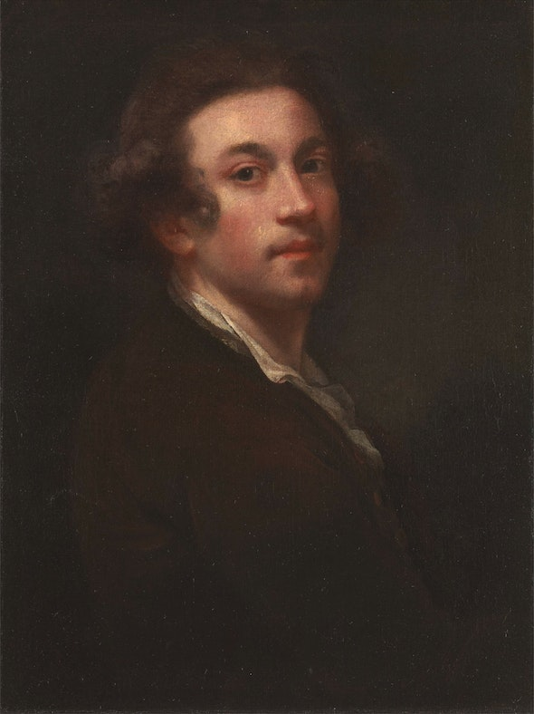 The painting once belonged to Sir Joshua Reynolds, an English painter known for his portraits of European aristocracy.