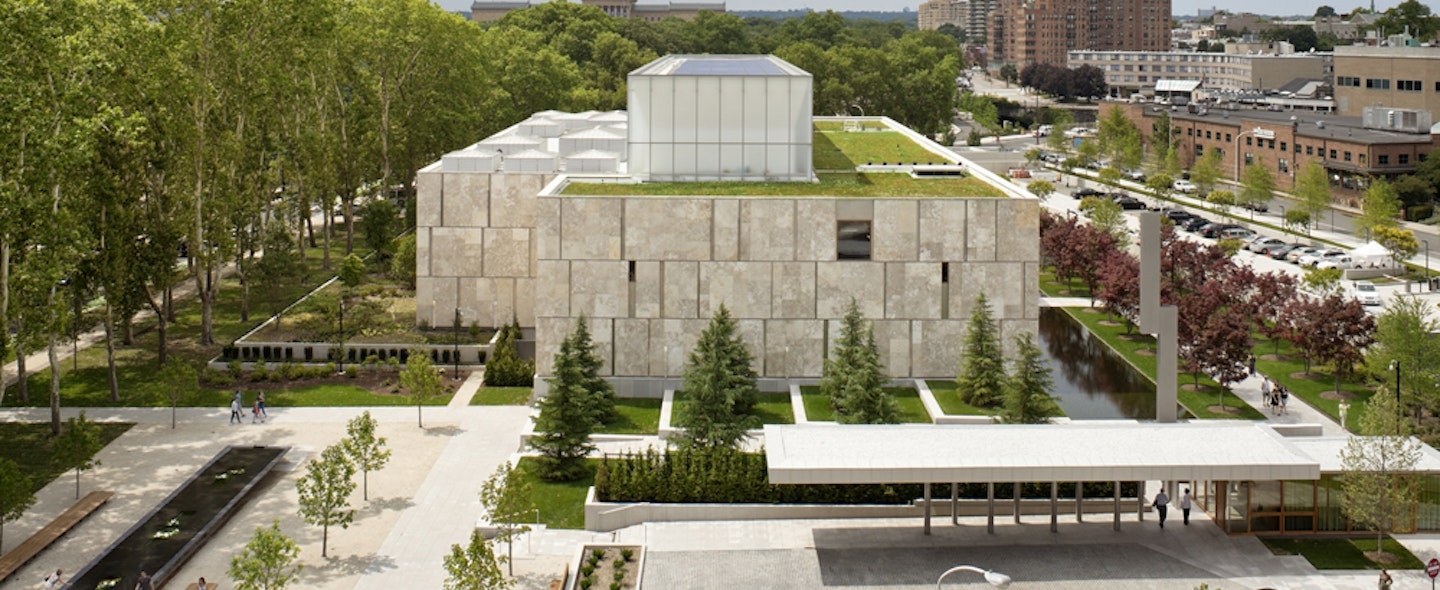 The exterior of the Barnes Foundation building in Philadelphia.