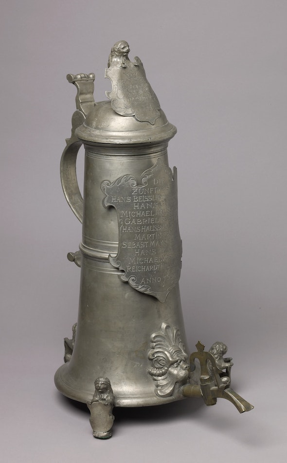 <p>Ceremonial tankards for bakers and butchers</p>