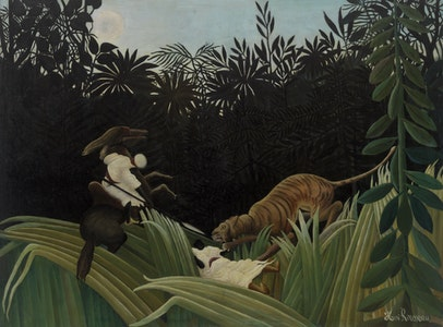 In Focus Gallery Talk: Rousseau's <i>Scouts Attacked by a Tiger</i>