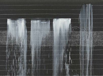Pat Steir <br> Silent Secret Waterfalls: <br>The Barnes Series
